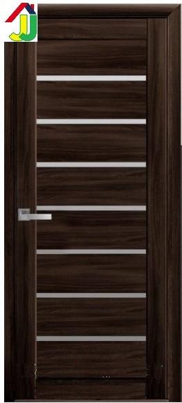 Дверь межкомнатная Новый стиль Леона Мода экошпон Венге Brown