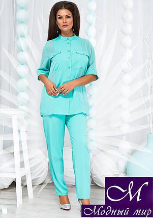 Женский костюм брюки + блуза батал (р. 48, 50, 52, 54) арт. 22-643, фото 2