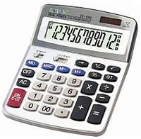 Калькулятор Eates DC-1988, 164х207мм (12разрядов, 2питания: солнечные батарейки, батарейки)