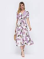 Платье белое длинное на запах с коротким рукавом 44 46 48 50 52 54 56