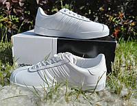 Кроссовки - кеды женские / подростковые Adidas Gazelle White | Адидас Газель белый