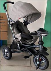 Crosser T 350 ECO AIR NEW дитячий триколісний світло-сірий велосипед