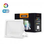 LED Смарт прожектор VIDEX 10W RGB Wi-fi 3000-6500 220V White