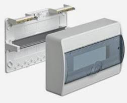 Щит на 8 модулей накладной с прозрачной дверцой Hager Cosmos VD108TD, фото 2