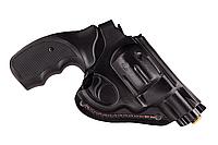 Кобура поясная Револьвер 2,5 формованная (кожа, чёрная), фото 1