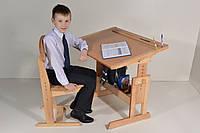 Парта и стул регулируемые 90 см, ДСП+ дерево бук, фото 1
