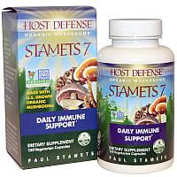 Fungi Perfecti, Stamets 7, Препарат для иммунитета на основе грибов Мицелий 120 капсул