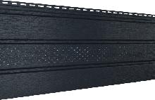 Софит U-plast с центральной перфорацией графитовый  (подшивка крыши)