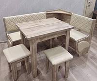 Кухонный уголок Милорд с раскладным столом и табуретами