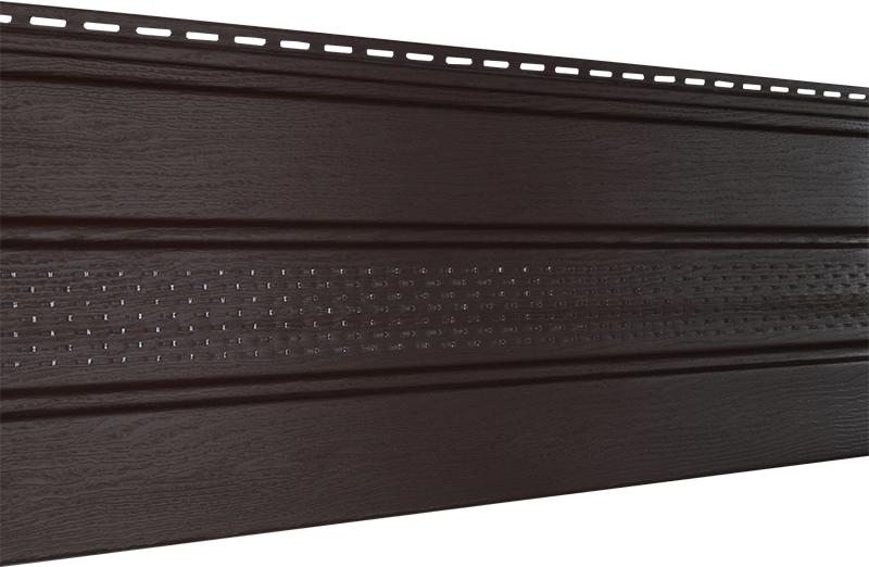 Софит U-plast с центральной перфорацией коричневый  (подшивка крыши)