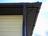 Софит U-plast с центральной перфорацией коричневый  (подшивка крыши), фото 2