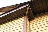 Софит U-plast с центральной перфорацией коричневый  (подшивка крыши), фото 3