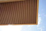 Софит U-plast с центральной перфорацией коричневый  (подшивка крыши), фото 4