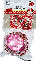 """Набор для кексов """"Минни Маус"""" форма (24шт) + флаг(24шт) в наборе 48 шт (код 04339)"""