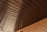 Софит U-plast с центральной перфорацией коричневый  (подшивка крыши), фото 8