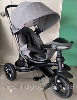 Crosser T 350 ECO AIR NEW детский трехколесный темно-серый велосипед