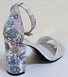 Босоніжки на підборах шкіряні від виробника модель РИ2003, фото 4