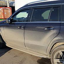 Дефлектори вікон (вітровики) з хром накладкою Mercedes S-klasse 222 2013-> Long хром 4шт (HIC)