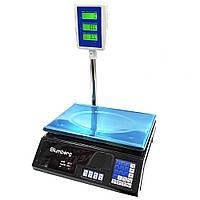 Электронные весы торговые Blumberg YZ-208 со стойкой до 50 кг работа от аккумулятора до 8 часов (GS00B1)