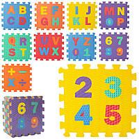 Коврик-пазл EVA Английский алфавит и цифры M 5734 Гарантия качества Быстрая доставка