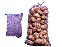Сітка овочева 40кг 80х50 (100шт) фіолетова ТМPACKETOFF