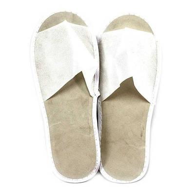 Тапочки одноразовые флизелиновые открытый носок