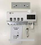 Стерилизатор для зубных щеток на 4 секции с дозатором Multi-function Toothbrush Sterilizer (UV стерилизатор), фото 3