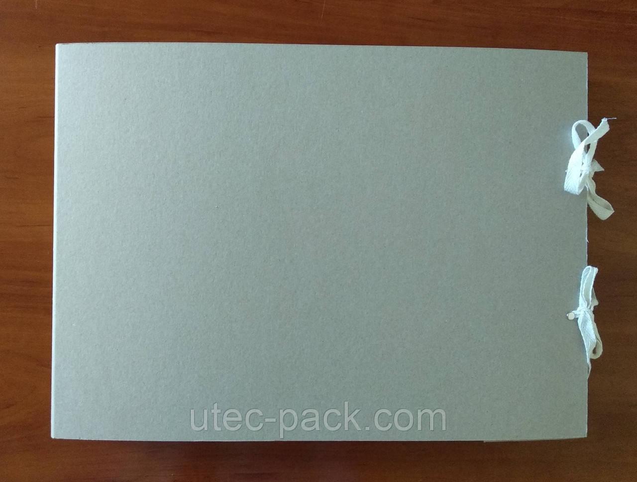 Папка архивная для альбомного хранения документов А3 на завязках, высота корешка 40 мм  без титульной страницы