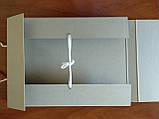 Папка архивная для альбомного хранения документов А3 на завязках, высота корешка 40 мм  без титульной страницы, фото 2