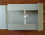 Папка архивная для альбомного хранения документов А3 на завязках, высота корешка 40 мм  без титульной страницы, фото 3