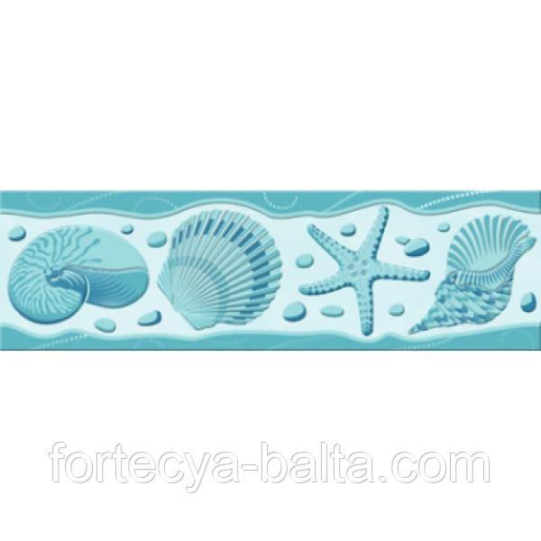 Фриз Golden Tile Аквариум бирюзовый 20х6 см цена за 1 шт