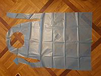 Фартух непромокальний довжиною 110см, ламінований спанбонд 45г/см2, н/с одноразовий