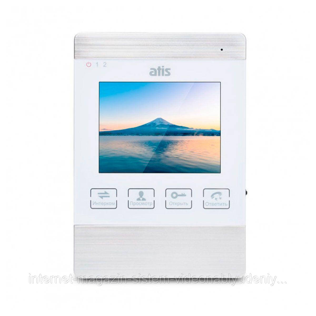 "Цветной видеодомофон ATIS AD-470M S-White 4"" Белый"