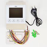 "Цветной видеодомофон ATIS AD-470M S-White 4"" Белый, фото 5"