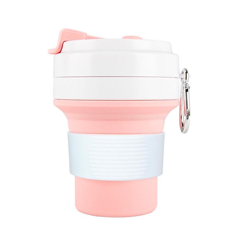 Стакан для кофе розовый, многоразовый кофейный стакан, складная кружка, складная чашка, складной стакан