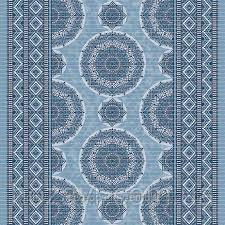 Коврик для ванной и туалета Аквамат Dekomarin Турция 65см Орнамент синий