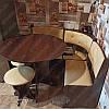 Компактный кухонный уголок Боярин с круглым столом и табуретами, фото 8