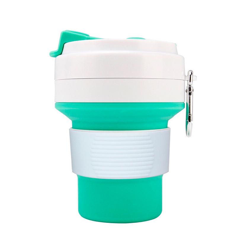 Стакан для кофе мятный, многоразовый кофейный стакан, складная кружка, складная чашка, складной стакан