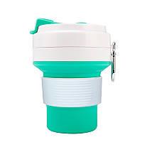 Стакан для кофе мятный, многоразовый кофейный стакан, складная кружка, складная чашка, складной стакан, фото 1
