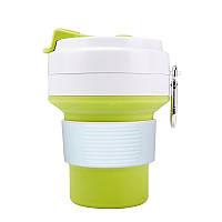 Стакан для кофе зеленый, многоразовый кофейный стакан, складная кружка, складная чашка, складной стакан, фото 1