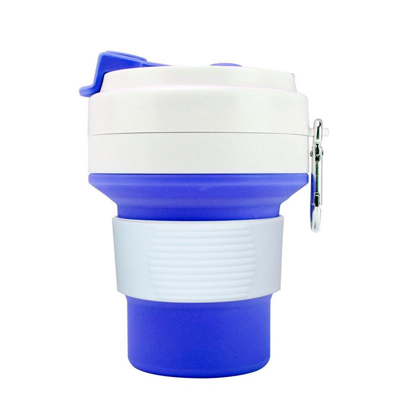Стакан для кофе синий, многоразовый кофейный стакан, складная кружка, складная чашка, складной стакан