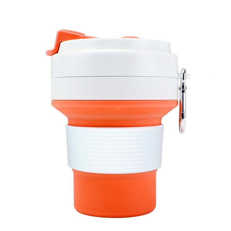 Стакан для кофе оранжевый, многоразовый кофейный стакан, складная кружка, складная чашка, складной стакан