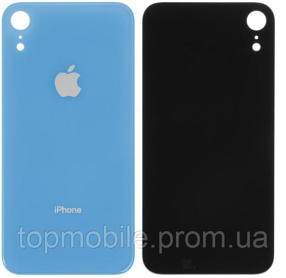 Задняя крышка для iPhone XR, синяя, копия хорошего качества