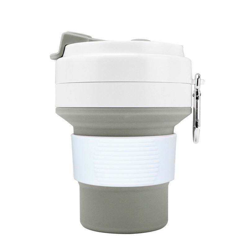 Стакан для кофе серый, многоразовый кофейный стакан, складная кружка, складная чашка, складной стакан