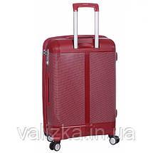 Средний пластиковый чемодан из полипропилена бордовый с расширителем Snowball Франция, фото 3