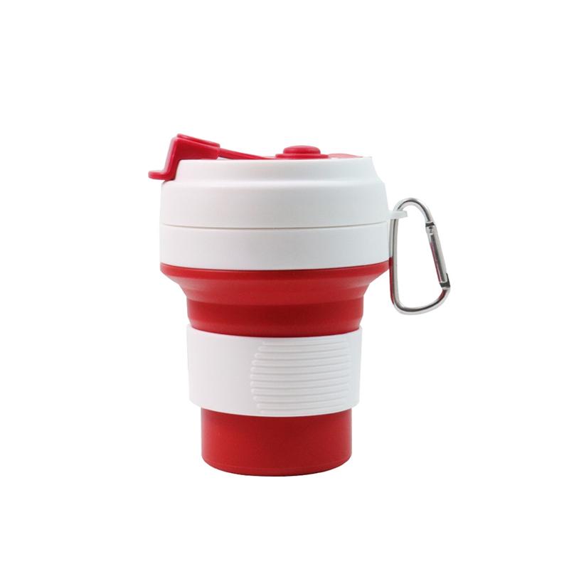 Стакан для кофе красный, многоразовый кофейный стакан, складная кружка, складная чашка, складной стакан