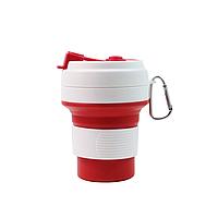 Стакан для кофе красный, многоразовый кофейный стакан, складная кружка, складная чашка, складной стакан, фото 1