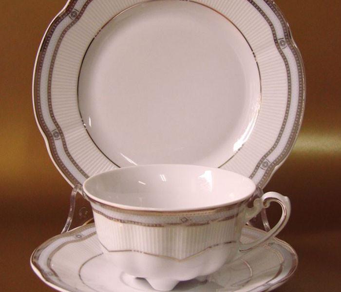 Набір чайних чашок з блюдцями Cmielow Bolero 9981 на 6 персон 12 предметів (3763)