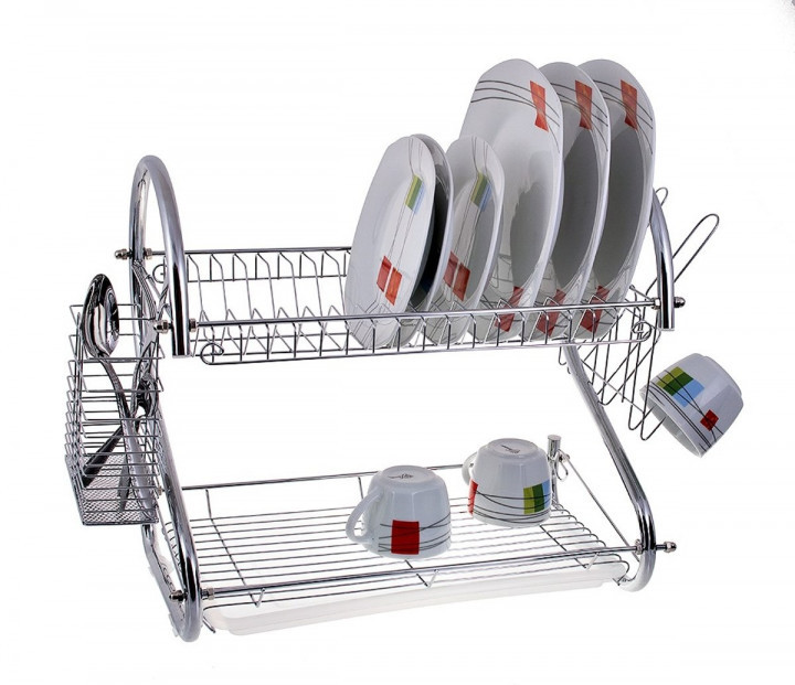 Настольная сушилка для посуды (2 яруса) 56 см Edenberg EB-2109 с поддоном