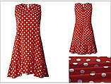 Платье женское летнее свободное в горошек. Сарафан на лето оверсайз (красный), фото 3